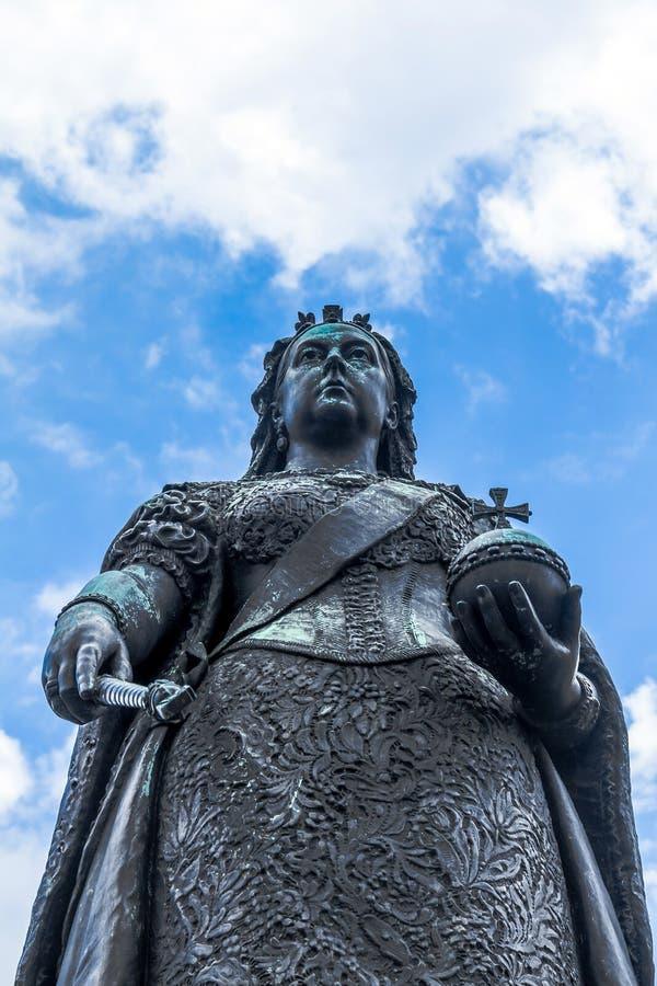 Statue de la Reine Victoria Windsor, R-U images libres de droits