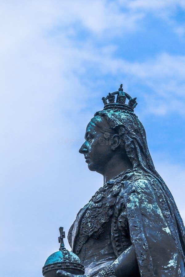 Statue de la Reine Victoria Windsor, R-U photo stock