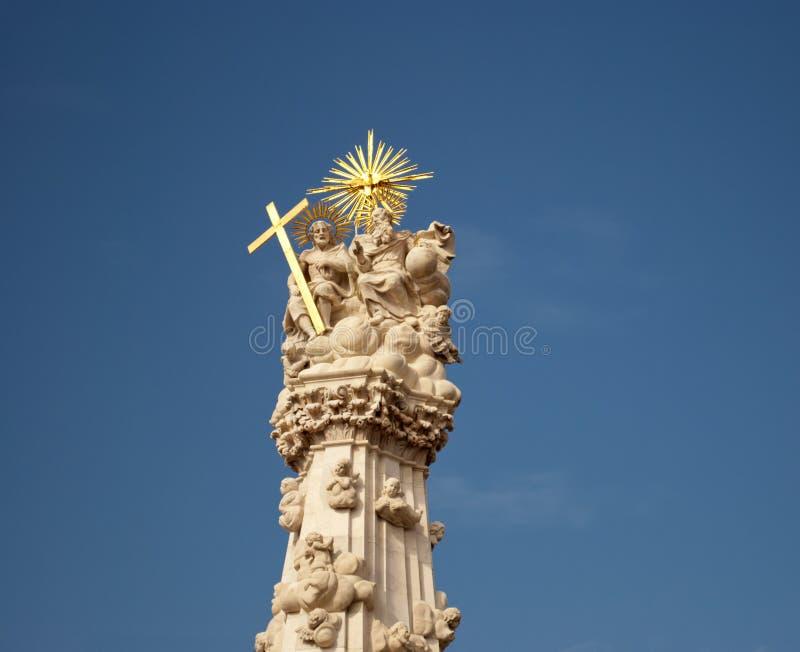 Statue de la trinité sainte à Budapest image libre de droits