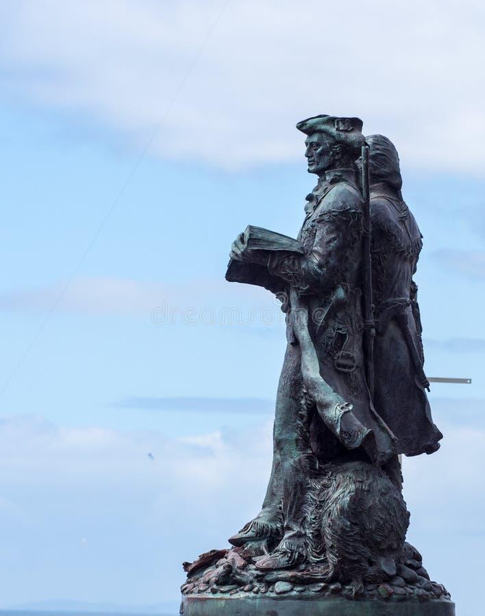 Statue de Lewis et de Clark images stock