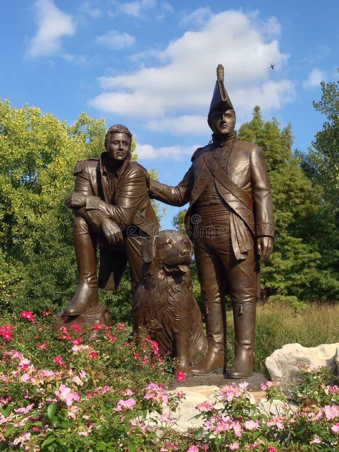 Statue de Lewis et de Clark image libre de droits