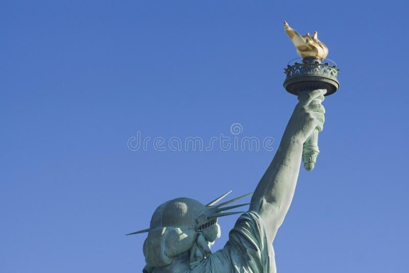 Statue de Liberty Head et de torche du dos images libres de droits