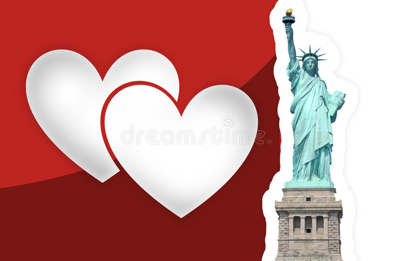 Statue de Liberty Hearts illustration libre de droits
