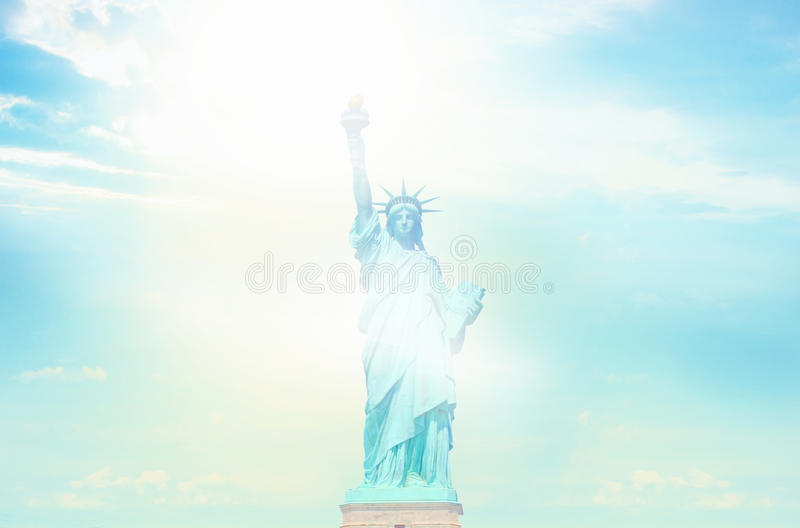 Statue de Liberty Sunny Sky illustration libre de droits
