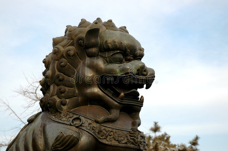 Statue de lion images stock