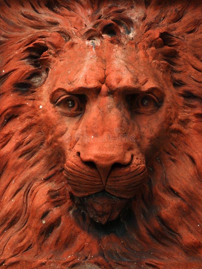 Statue de lion de terre cuite photo libre de droits
