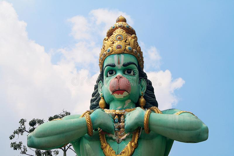 Statue de Lord Hanuman, aux cavernes de Batu image stock