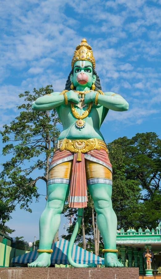 Statue de Lord Hanuman aux cavernes de Batu photo libre de droits