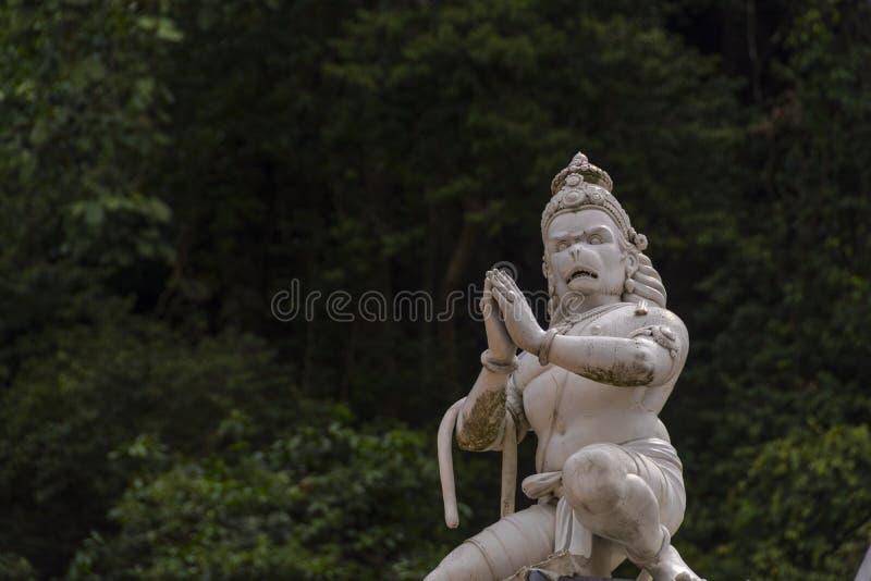 Statue de Lord Hanuman aux cavernes de Batu en Kuala Lumpur, Malaisie photo libre de droits