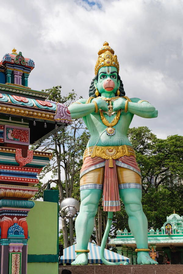 Statue de Lord Hanuman en cavernes de Batu, Malaisie photo stock