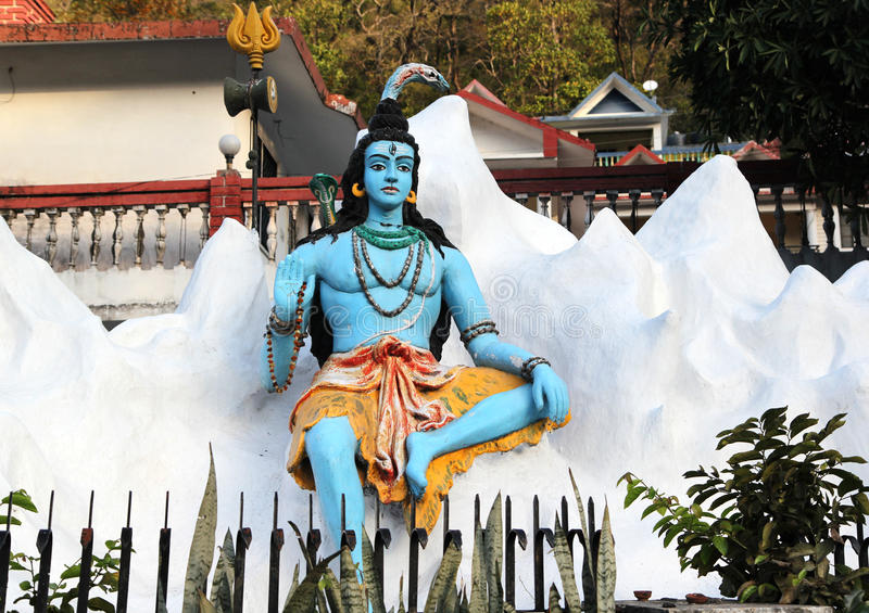 Statue de Lord Shiva indou, Rishikesh l'Inde photographie stock