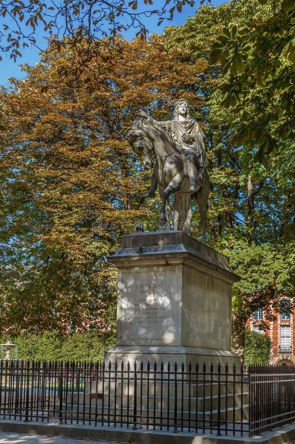 Statue de Louis XIII, Paris photos stock