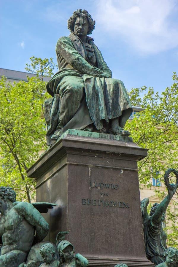 Statue de Ludwig van Beethoven à Vienne photographie stock