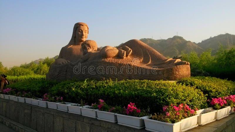 statue de mère de la rivière Yellow photographie stock