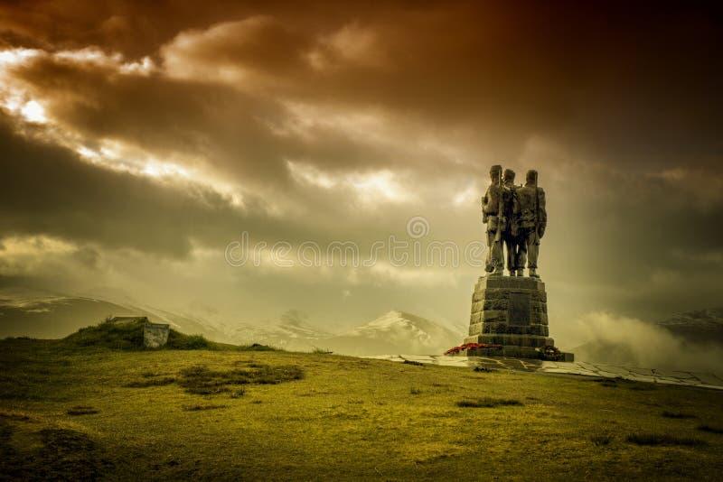 Statue de mémorial de commando photos libres de droits
