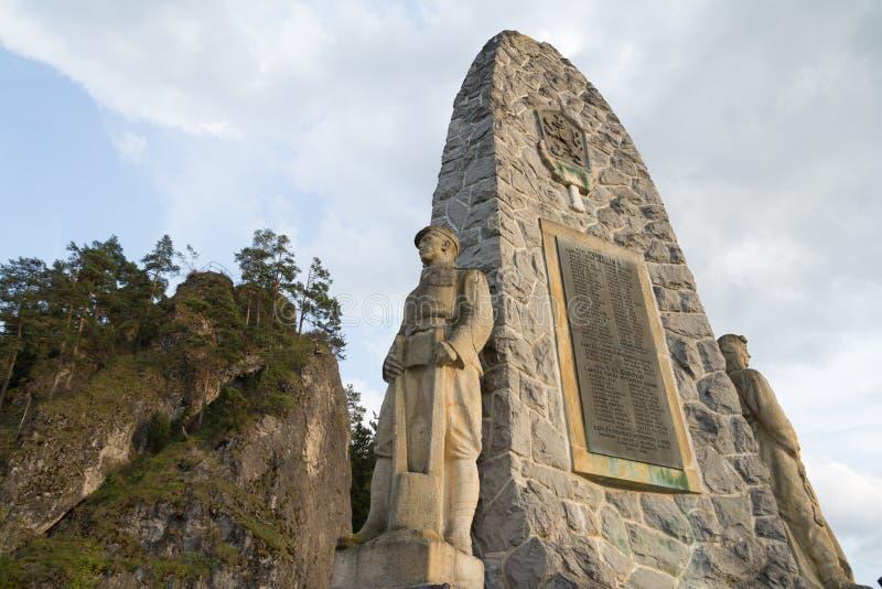 Statue de mémorial de guerre de soldat image stock