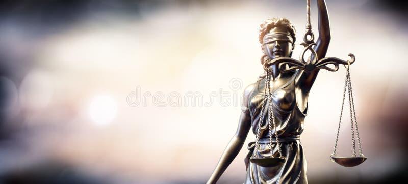 Statue de Madame Justice image stock