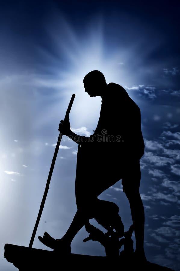 Statue de Mahatma Gandhi image libre de droits