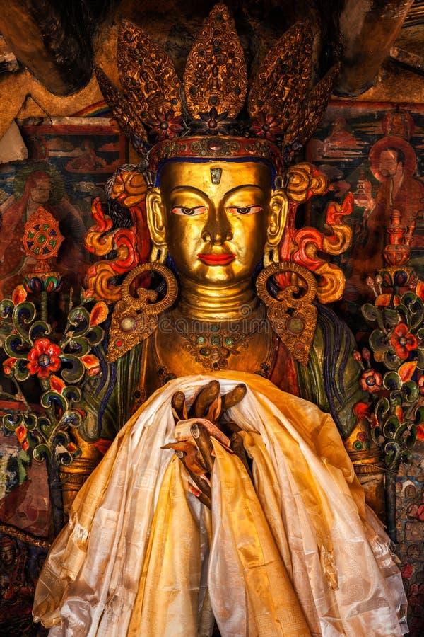 Statue de Maitreya Bouddha photos stock