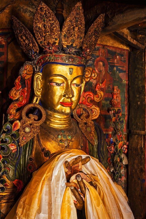 Statue de Maitreya Bouddha photographie stock libre de droits