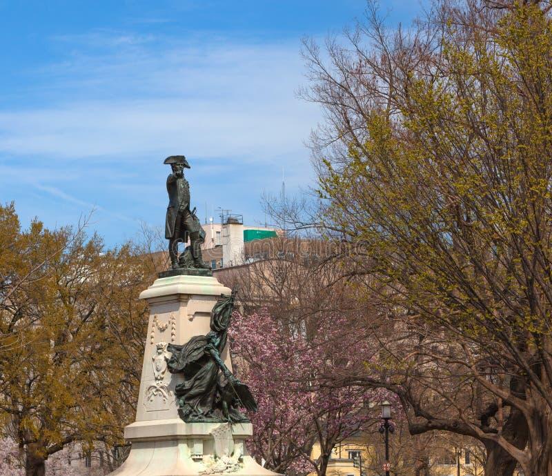 Statue de Major General Comte Jean de Rochambeau photographie stock