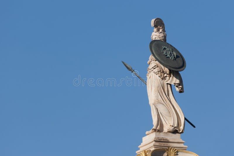 Statue de marbre classique d'Athéna photo stock