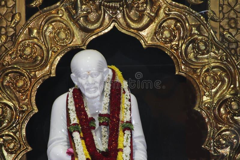 Statue de marbre de Sai Baba images libres de droits