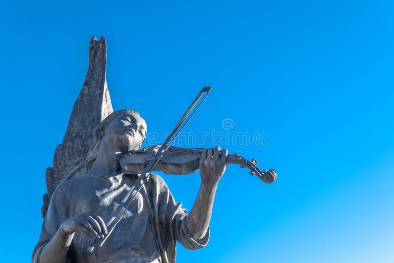 Statue de marbre de femme d'ange images stock