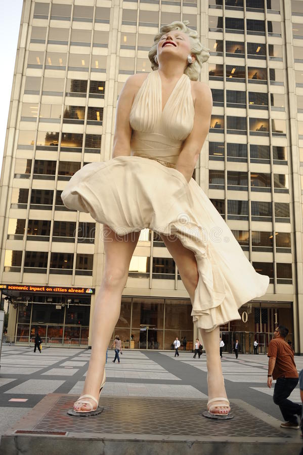 Statue de Marilyn Monroe Chicago image libre de droits