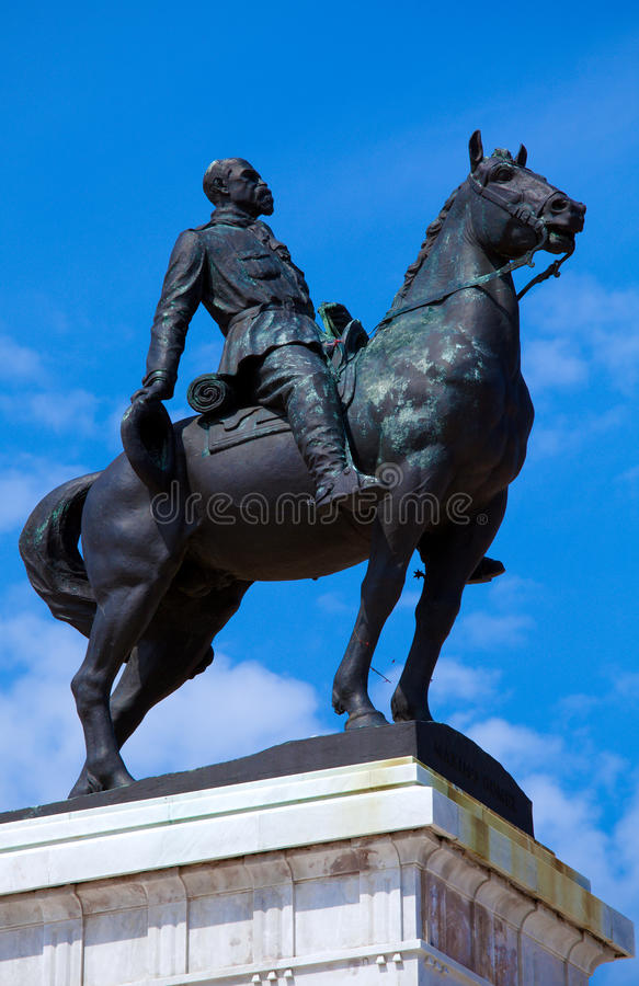 Statue de Maximo Gomez, La Havane images libres de droits
