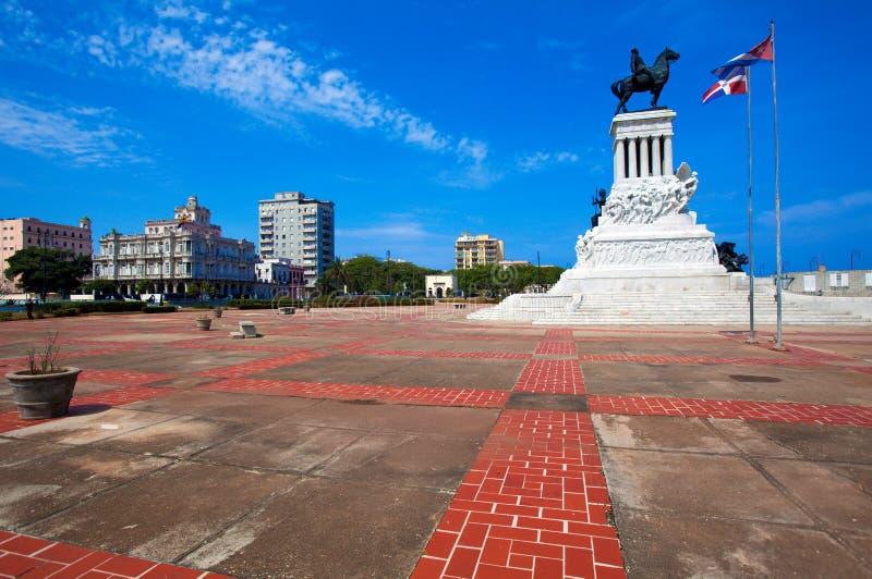 Statue de Maximo Gomez, La Havane photographie stock