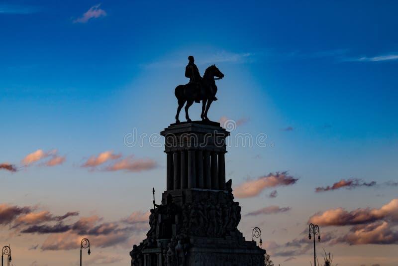Statue de Maximo Gomez, La Havane, Cuba photo libre de droits