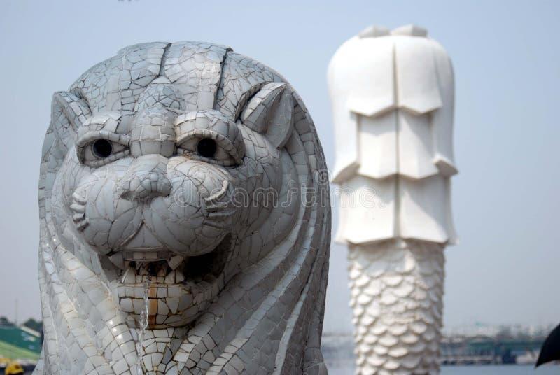 Statue de Merlion à Singapour photographie stock