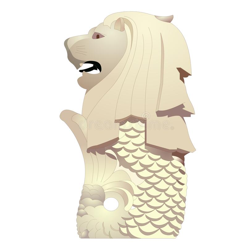 Statue de Merlion image stock