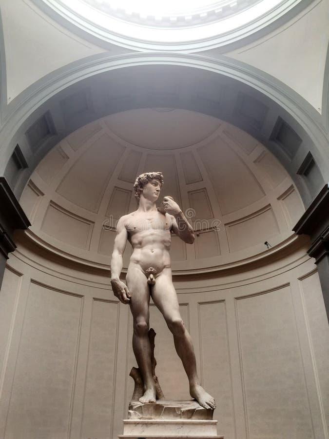 Statue de Michelangelo David à Florence, Italie image libre de droits