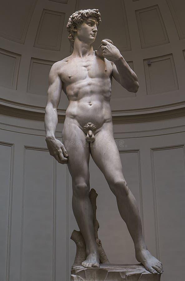 Statue de Michelangelo David dans Accademia, Florence, Italie photos libres de droits