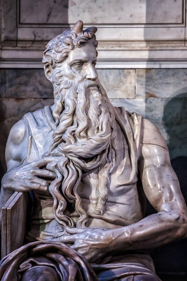 Statue de Moïse photographie stock libre de droits