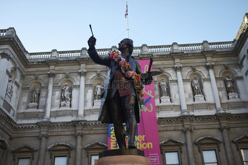 Statue de monsieur Joshua Reynolds photo stock