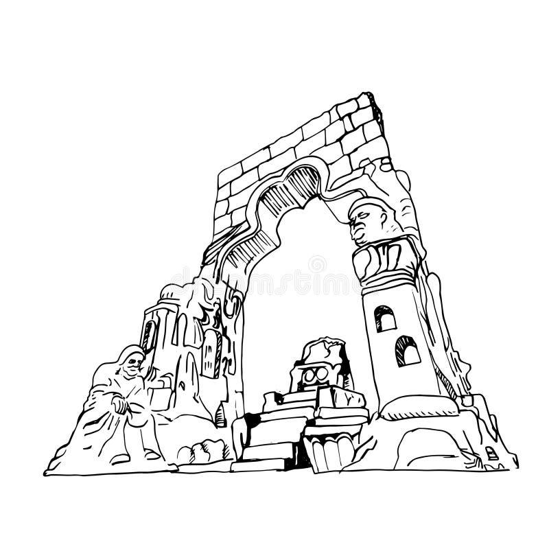 Statue de monument de Duhok illustration stock