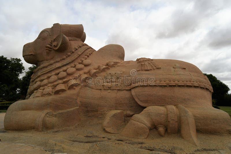 Statue de Naandi, Inde de Lepakshi image stock