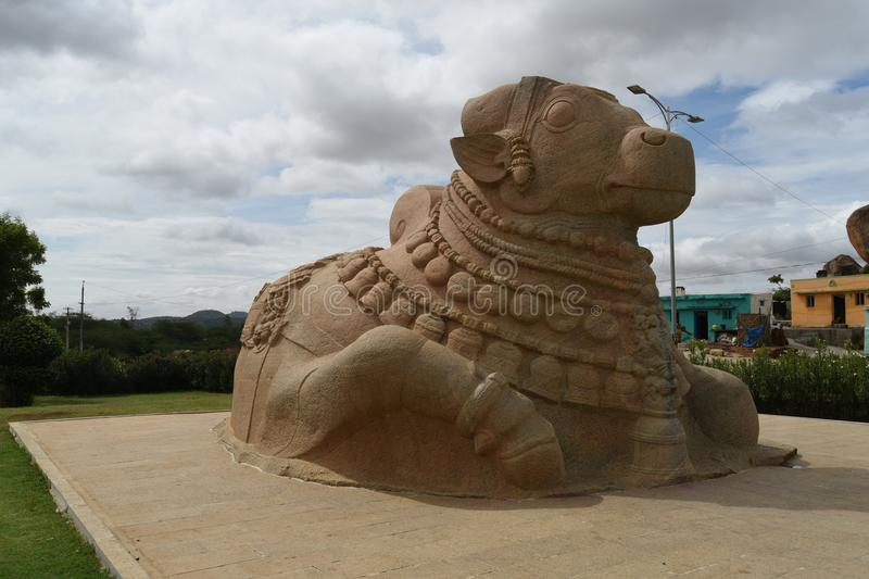 Statue de Naandi, Inde de Lepakshi photo stock
