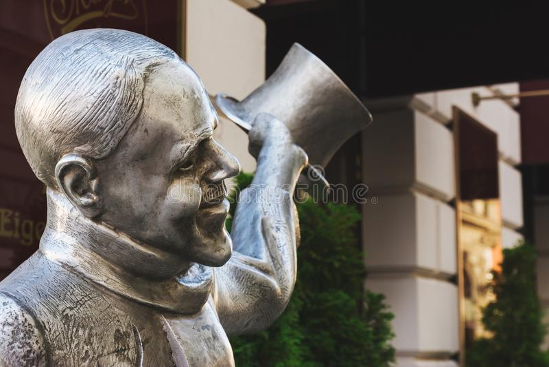 Statue de NaCl de Schone, Bratislava, Slovaquie images libres de droits