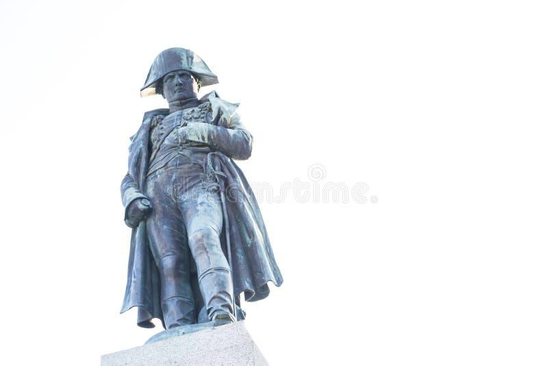 Statue de napoléon sur son monument à Ajaccio, Corse images libres de droits
