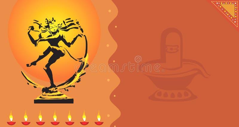 Statue de Nataraja avec Shivling illustration stock