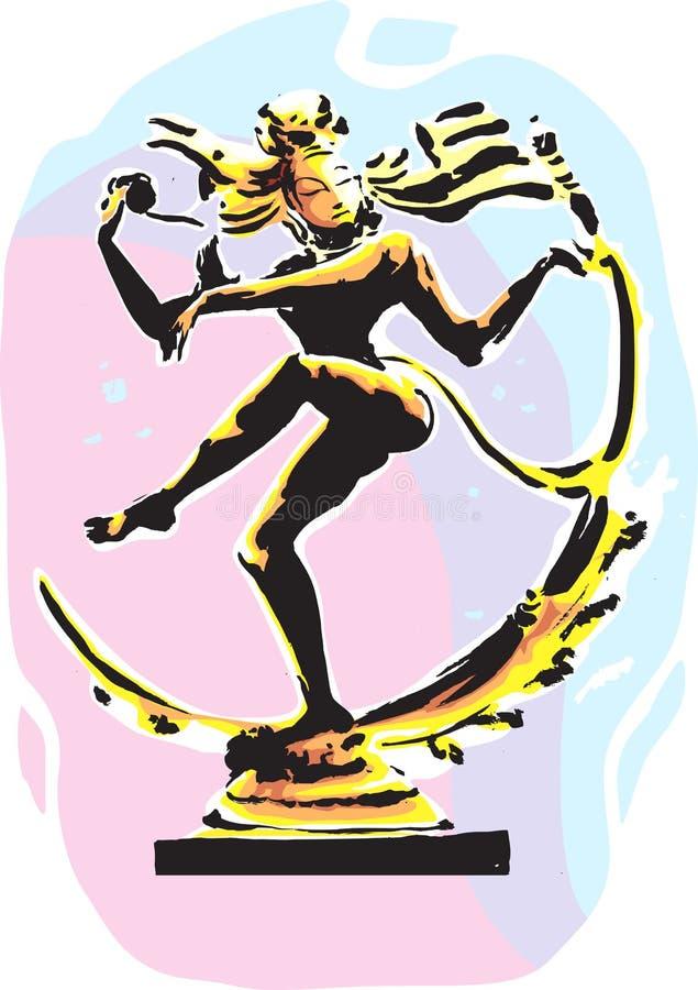 Statue de Natraja illustration stock