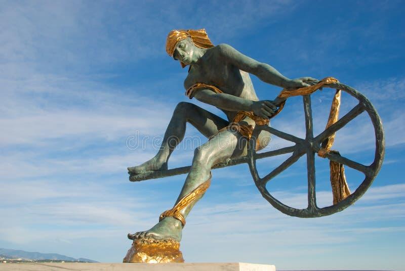 Statue de Neptune illustration de vecteur