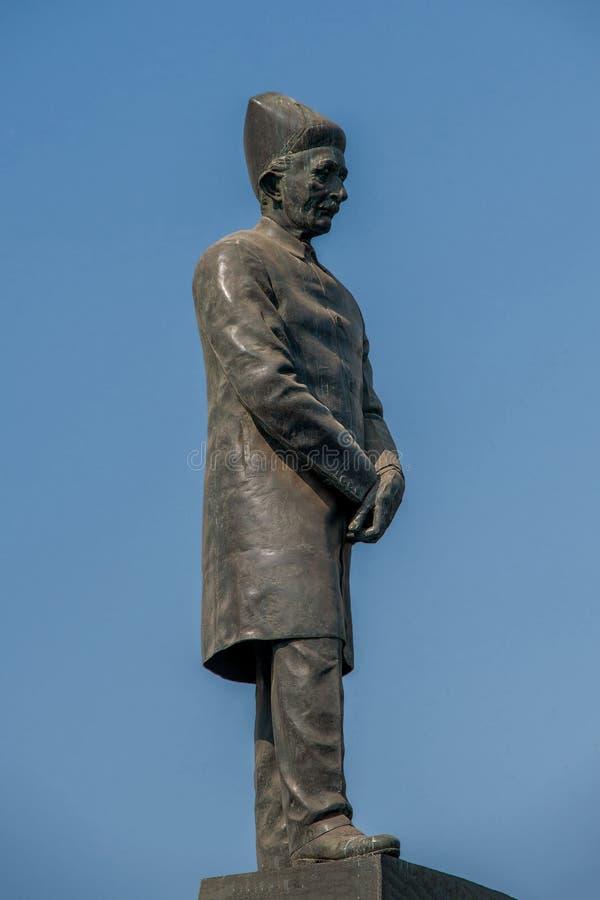 Statue de Parsi-Dinshaw Edulji Wacha-1844 au maharashtra INDE de Mumbai de churchgate photographie stock