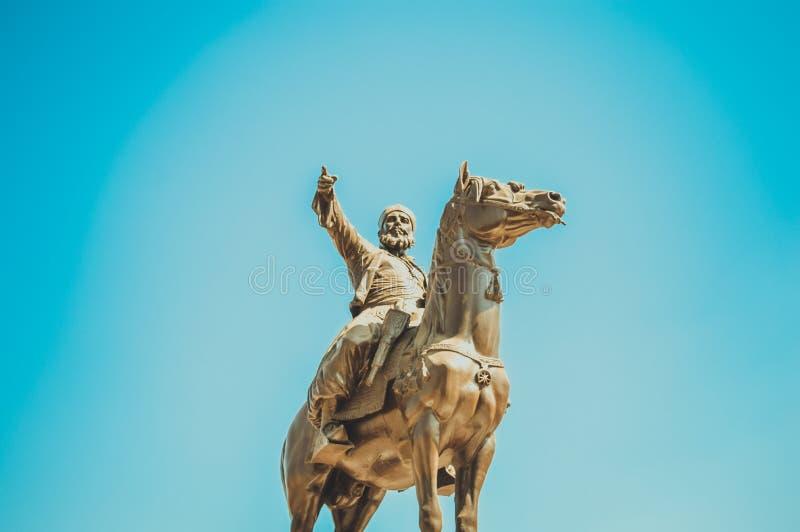 statue de pasha d'Ibrahim à l'intérieur de citadelle du Caire photos libres de droits