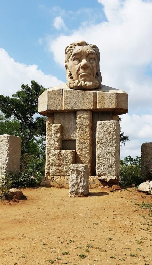 Statue de Paul Kruger au parc national de Kruger photos libres de droits