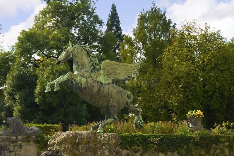 Statue de Pegasus les jardins de Mirabell à Salzbourg Autriche photographie stock